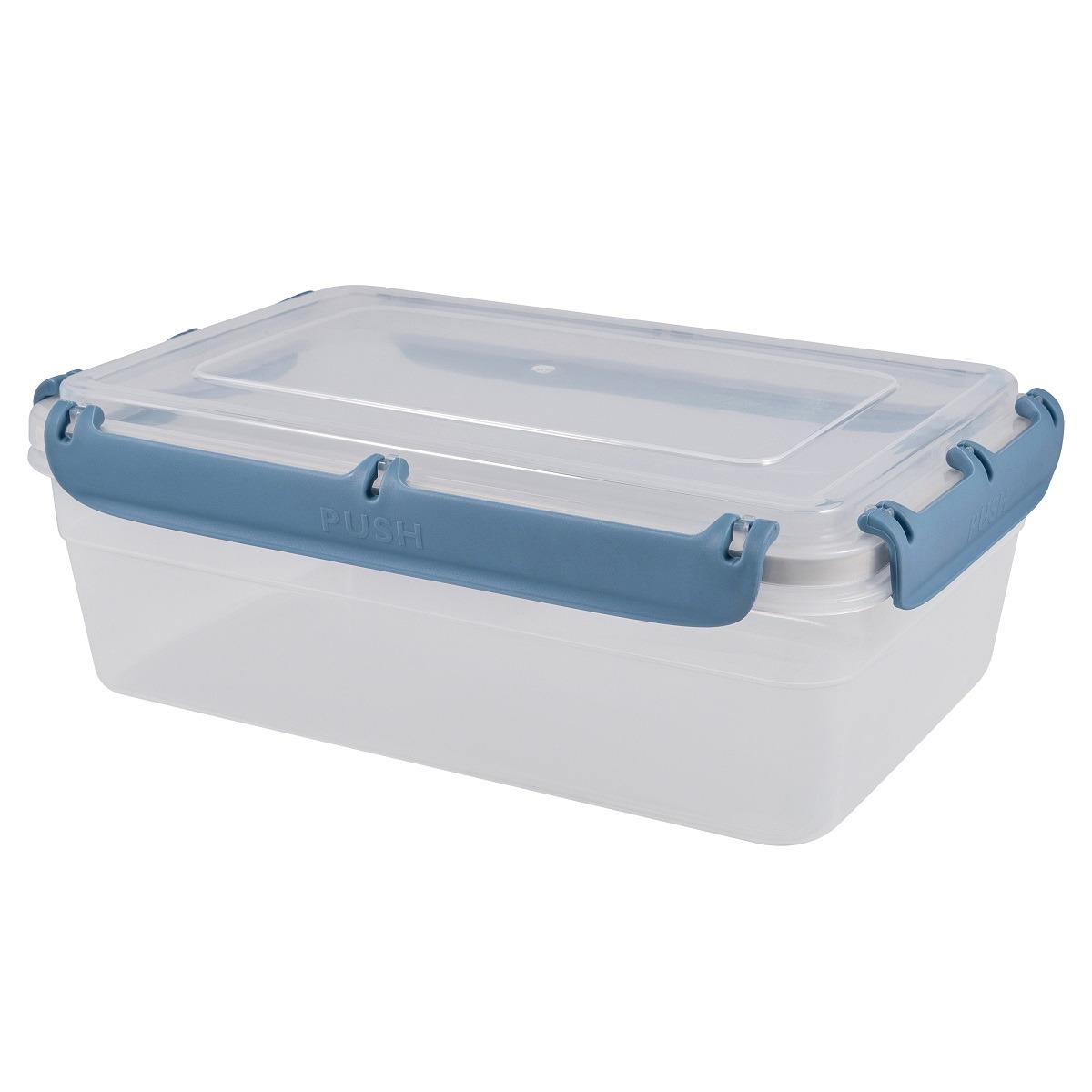 Контейнер пищевой Plast Team Bergen, с защелками, PT1047-10, туманно-голубой, 2,6 л контейнер пищевой plast team цвет голубой прозрачный 0 6 л
