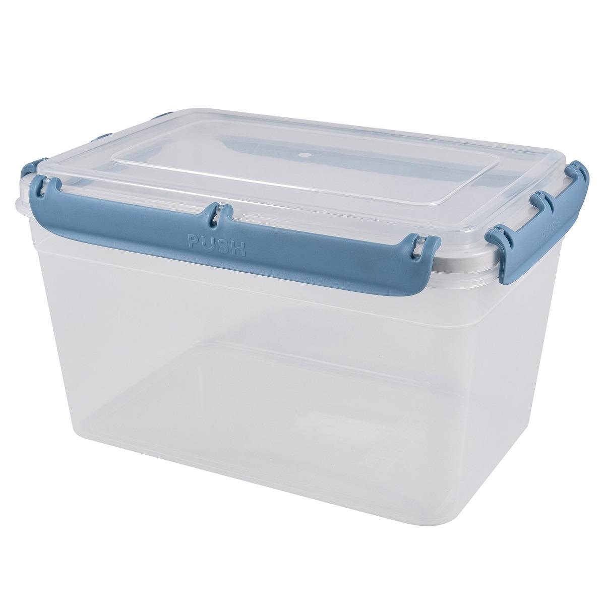 Контейнер пищевой Plast Team Bergen, с защелками, PT1048-6, туманно-голубой, 4,5 л контейнер пищевой plast team цвет голубой прозрачный 0 6 л
