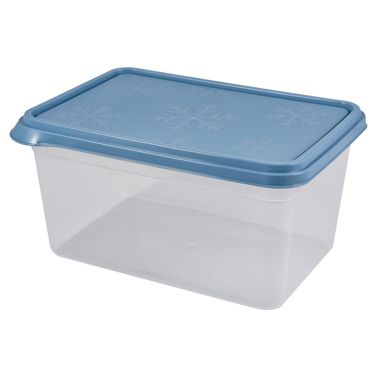 Контейнер пищевой Plast Team Bergen, PT1138-20, туманно-голубой, 1,3 л контейнер пищевой plast team цвет голубой прозрачный 0 6 л