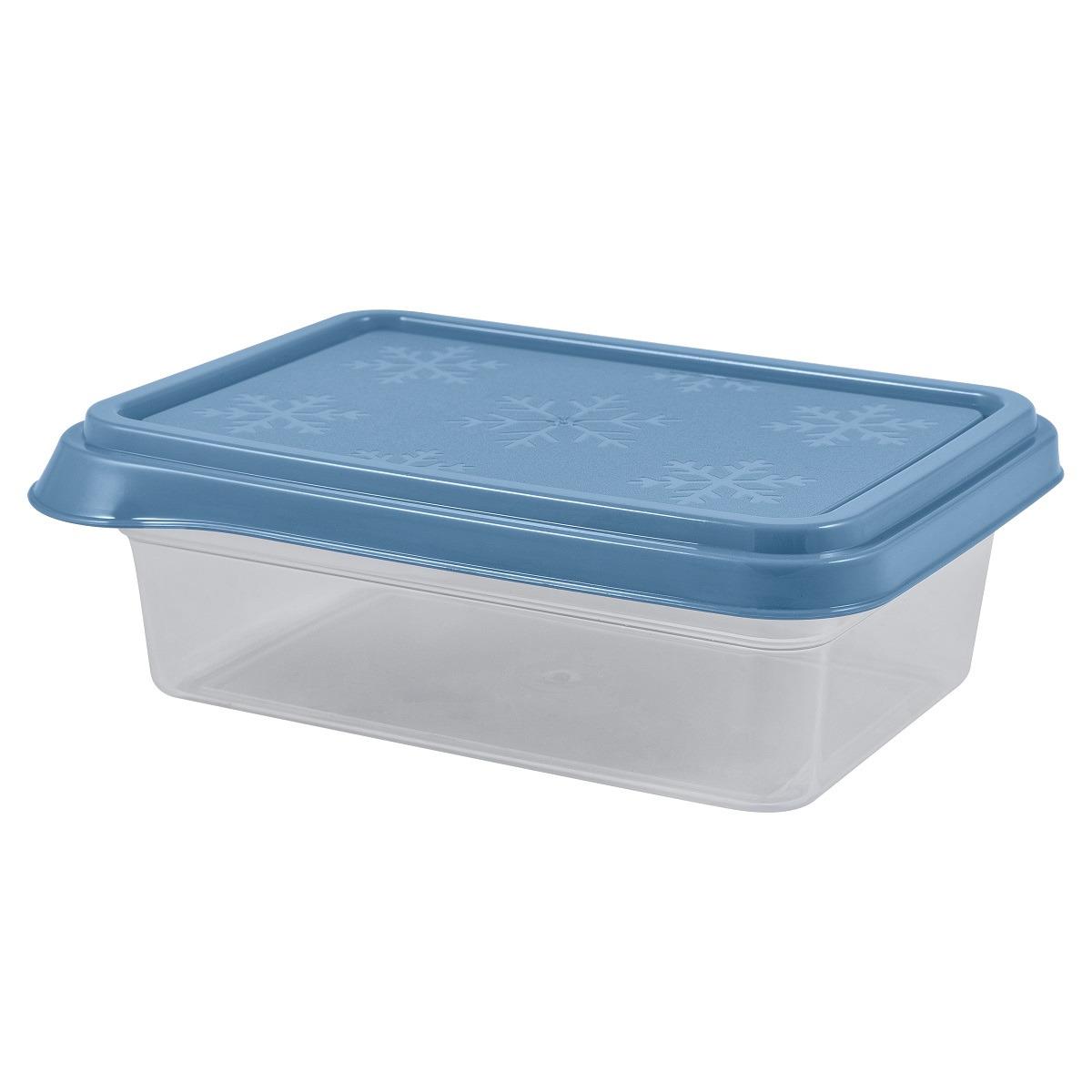 Контейнер пищевой Plast Team Bergen, PT1139-23, туманно-голубой, 1,4 л контейнер пищевой plast team цвет голубой прозрачный 0 6 л