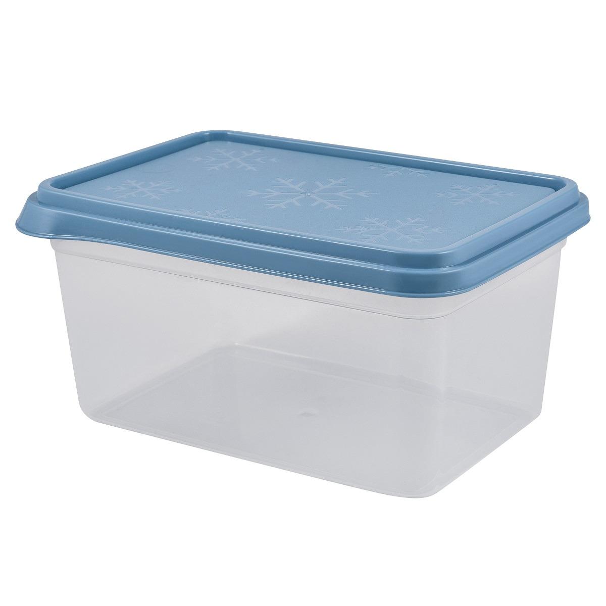 Контейнер пищевой Plast Team Bergen, PT1140-19, туманно-голубой, 2,4 л контейнер пищевой plast team цвет голубой прозрачный 0 6 л