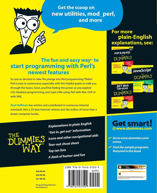 Paul Hoffman Perl for Dummies цены онлайн