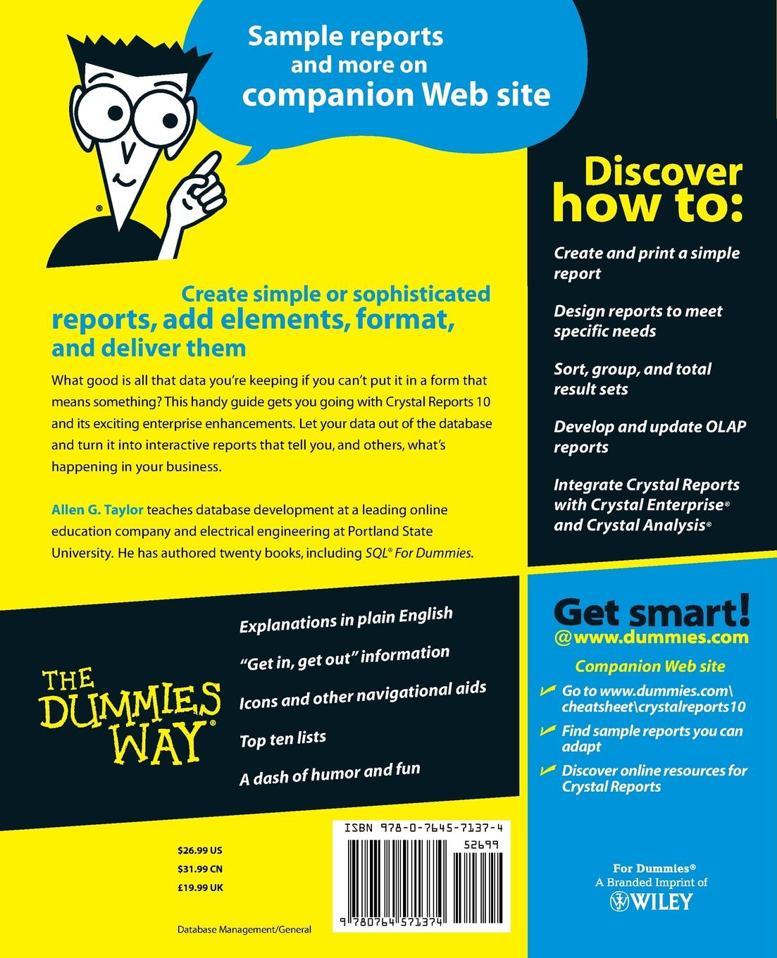 Allen G. Taylor Crystal Reports 10 for Dummies