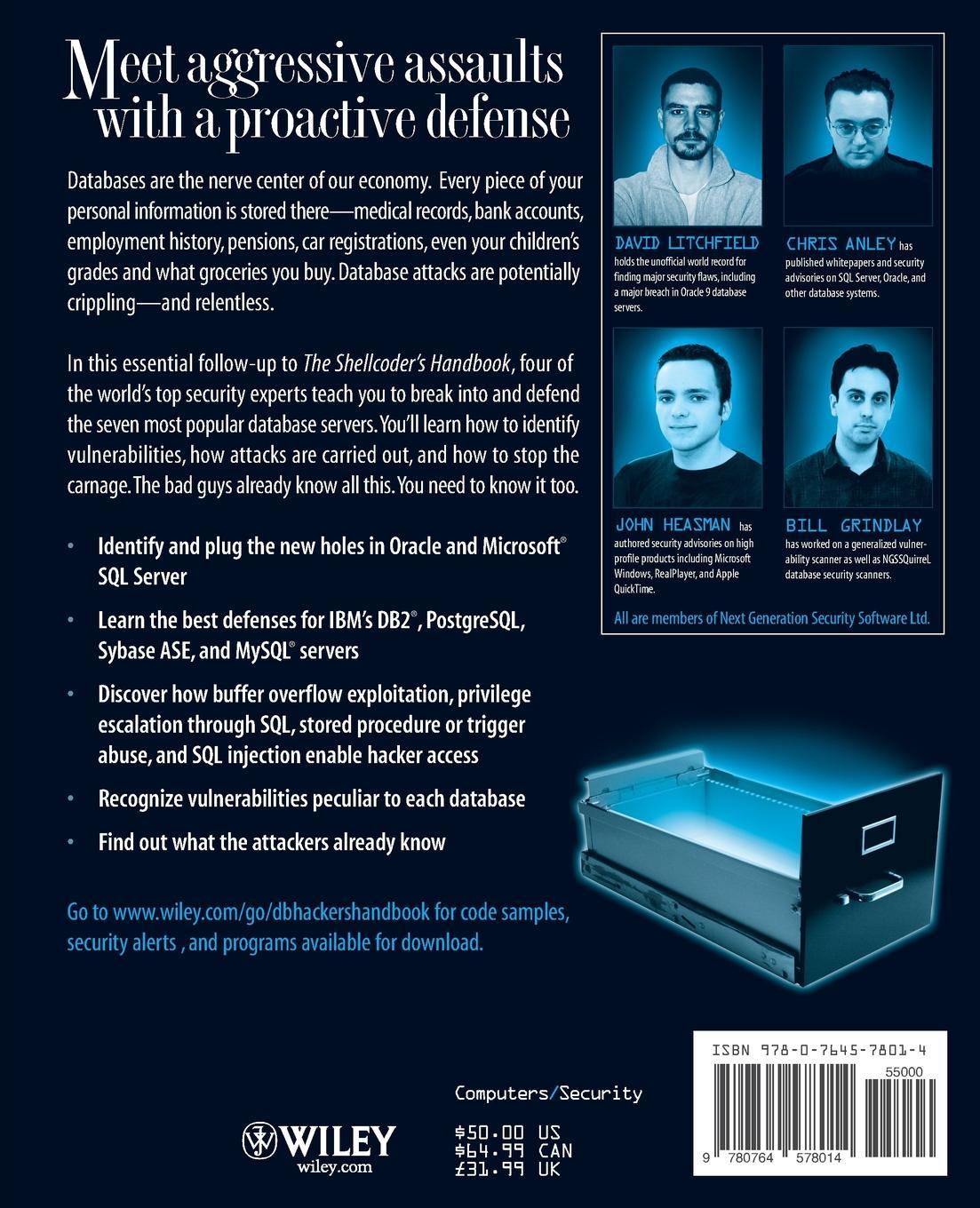 Litchfield Database Hacker's Handbook w/WS s g gujar takale s k shah database management system