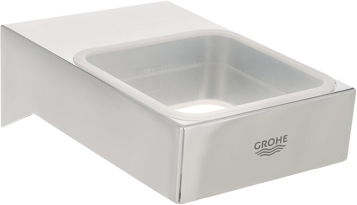 Подстаканник для ванной Grohe Selection Cube, 40865000, серебристый