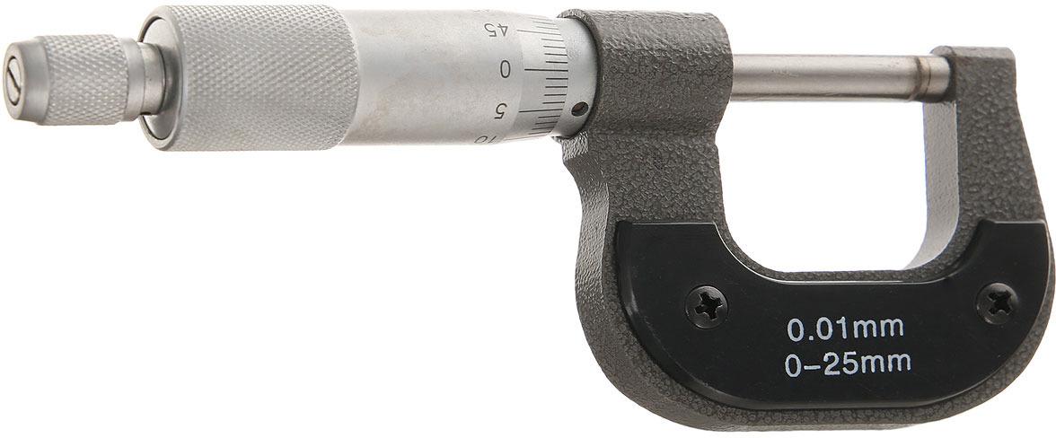 Микрометр механический Matrix, цвет: серый металлик, 0-25 мм микрометр proconnect 0 25 мм