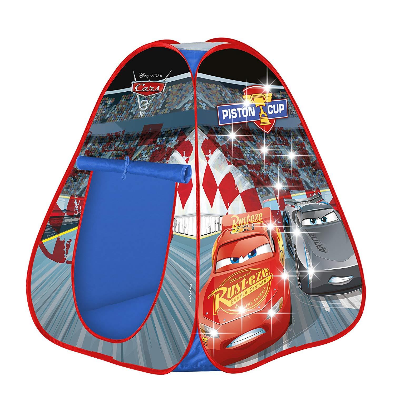Детская игровая палатка Тачки, светящаяся, раскладывающаяся, 72512, 75 х 75 х 90 см