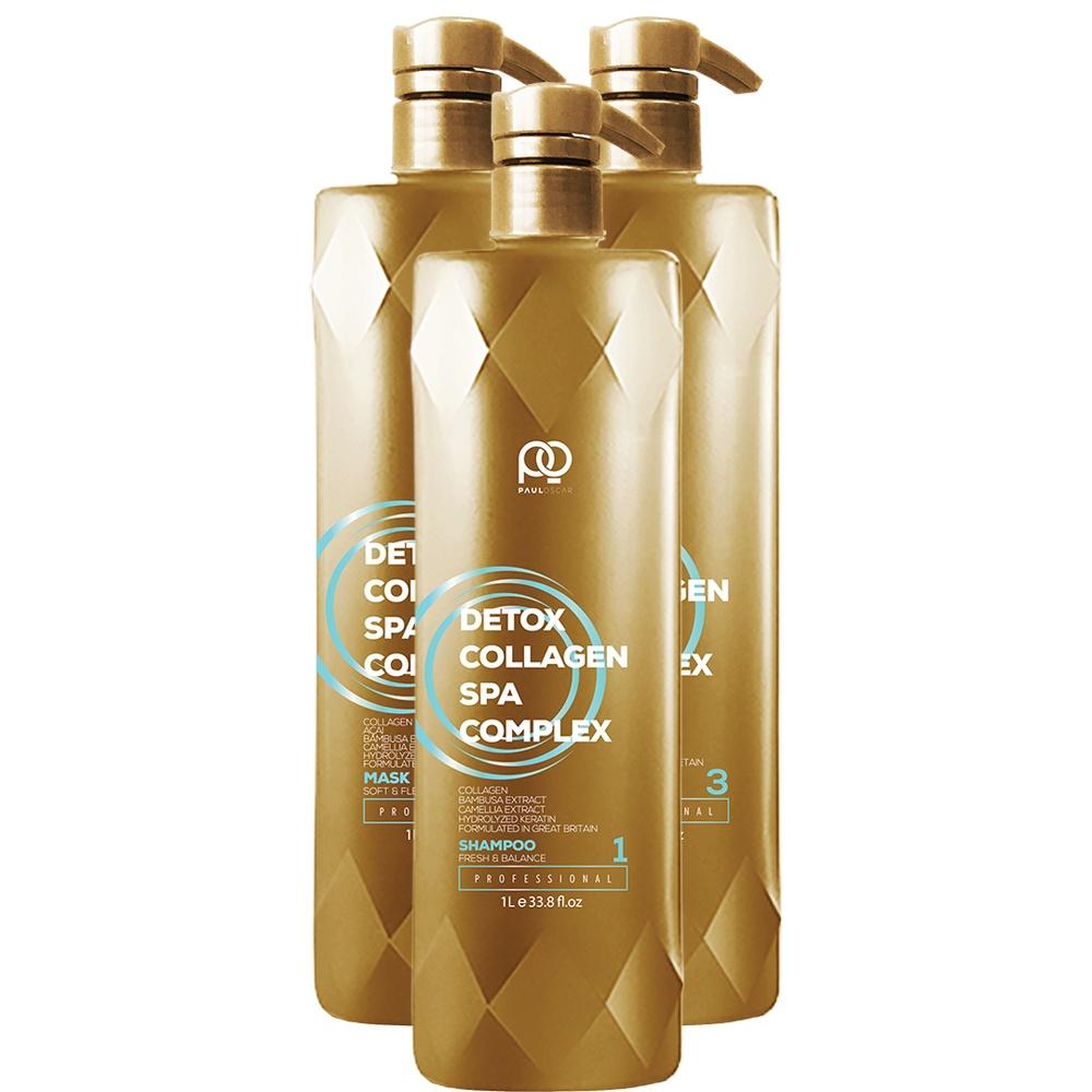 Набор для кератинового выпрямления волос Collagen Detox SPA Complex Набор MINI, 1000 мл