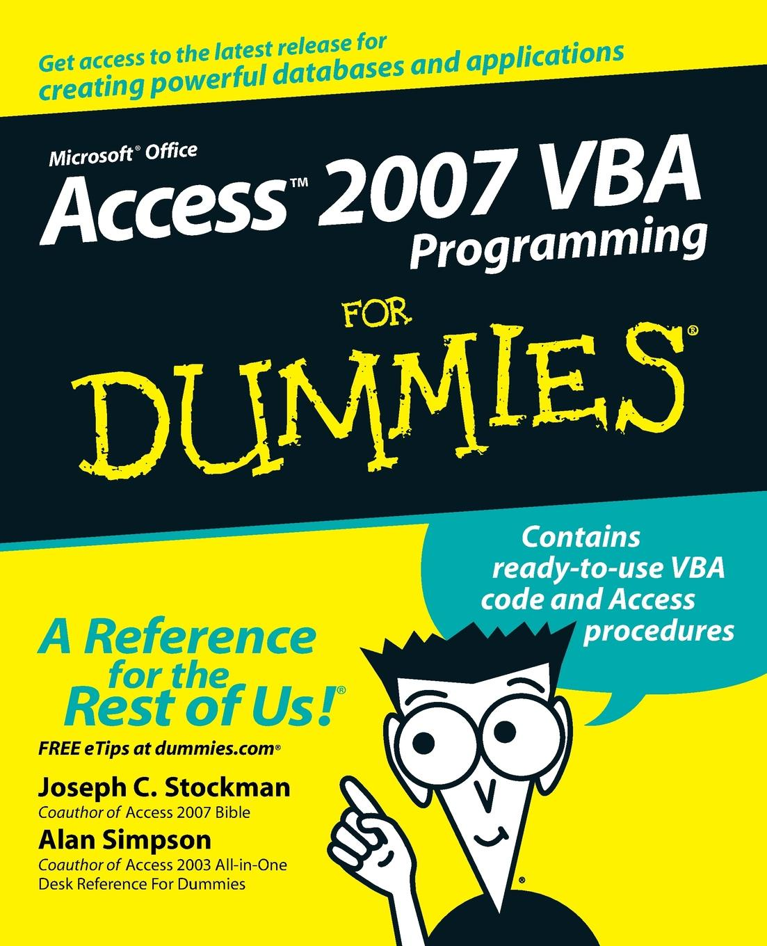 Фото - Joseph C. Stockman, Alan Simpson Access 2007 VBA Programming for Dummies dan gookin word 2007 for dummies