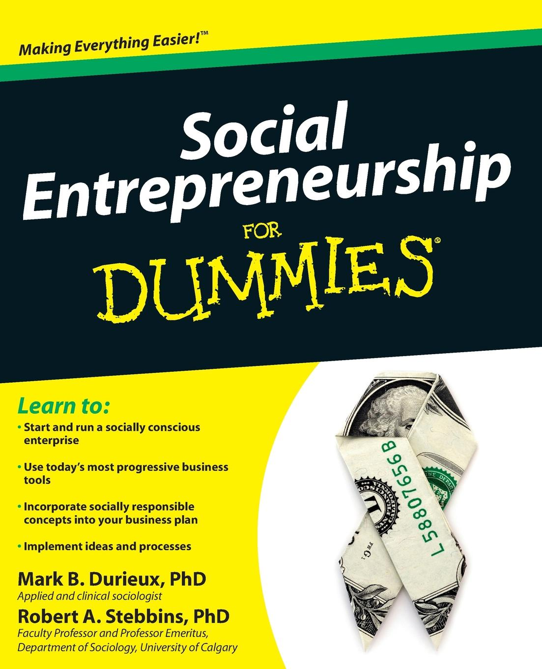 Mark B. Durieux, Robert A. Stebbins Social Entrepreneurship for Dummies mark lafay drones for dummies