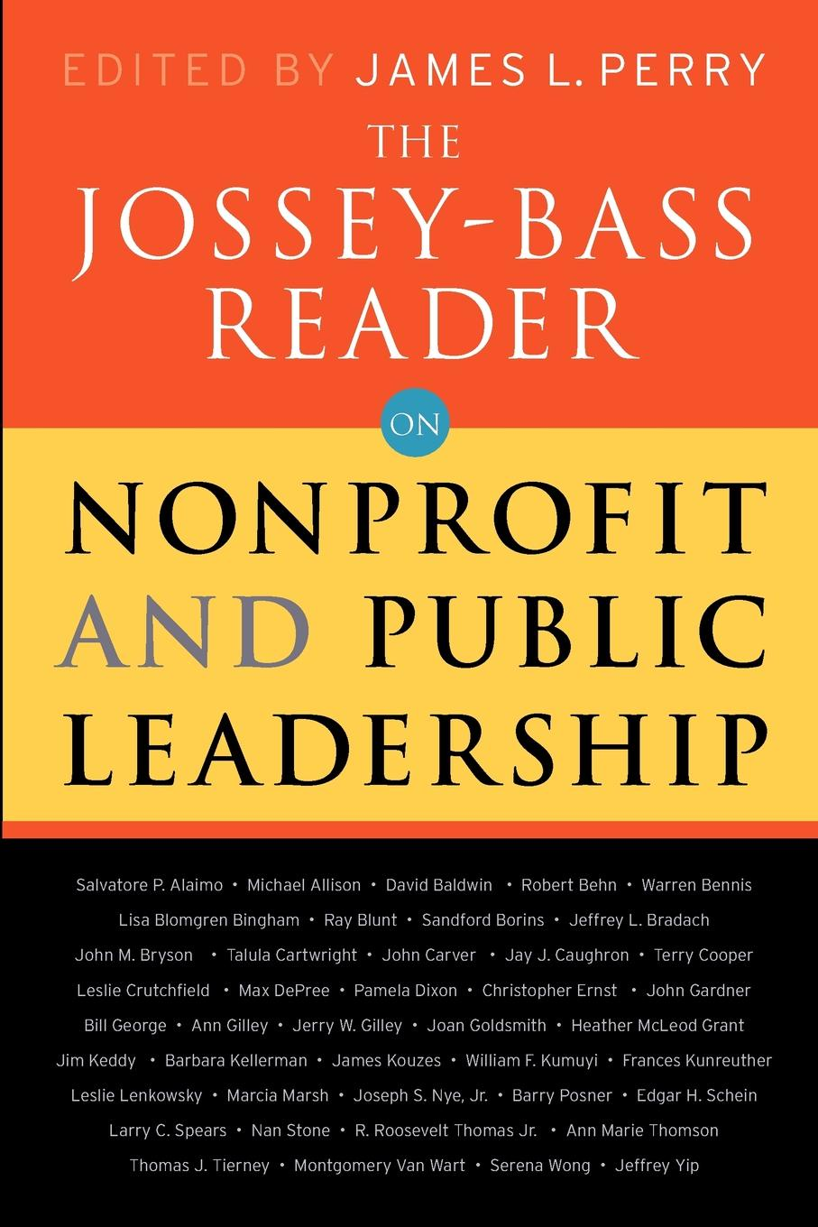 Jossey-Bass Publishers, Lastjossey-Bass Publishers The Reader on Nonprofit and Public Leadership