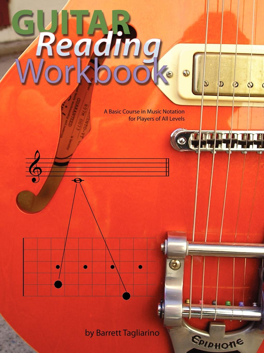 Barrett Tagliarino Guitar Reading Workbook guitar accessories 1 pcs x 25 5electric guitar fretboard electric guitar rose wood fretboard parts 00 025 inlay