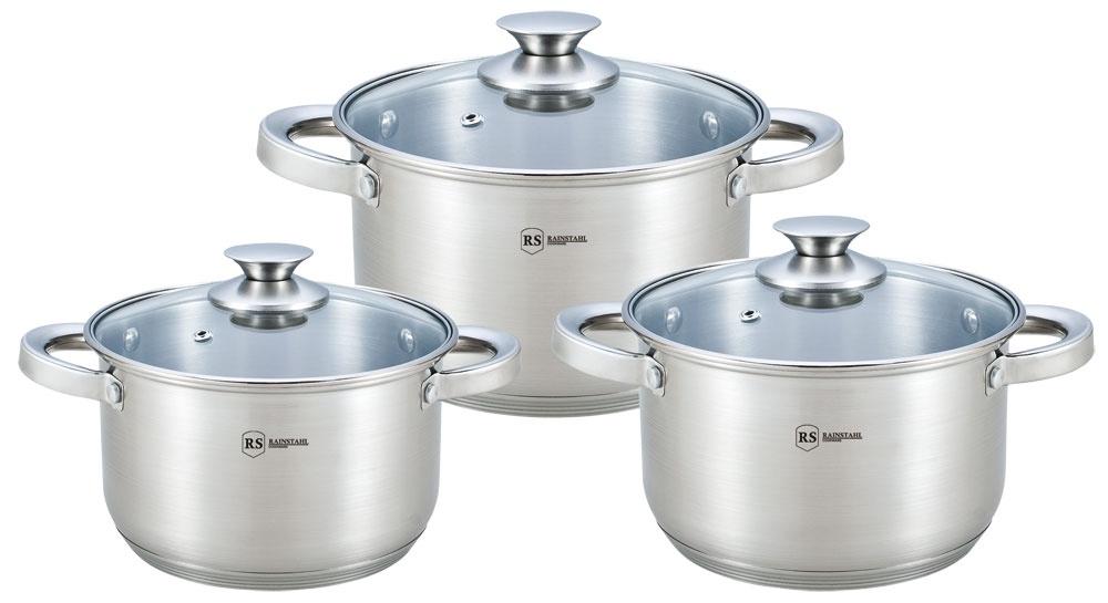Набор посуды для приготовления Rainstahl 1642-06RS\CW, серебристый