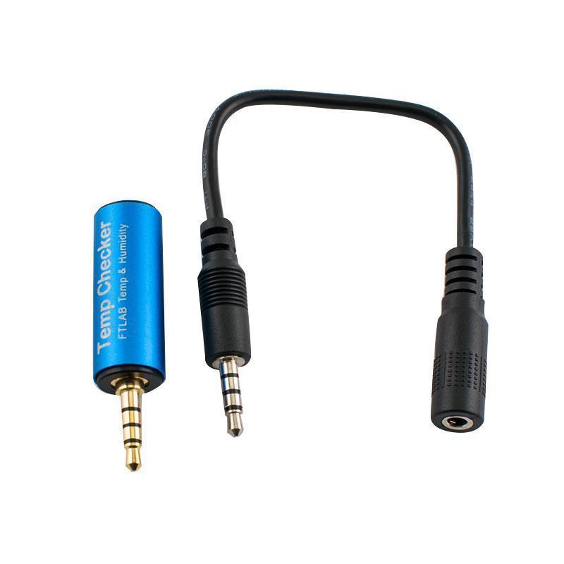 Модуль для смартфона Espada FTC-001 - Детектор влажности и температуры Smart Temp checker, синий стоимость