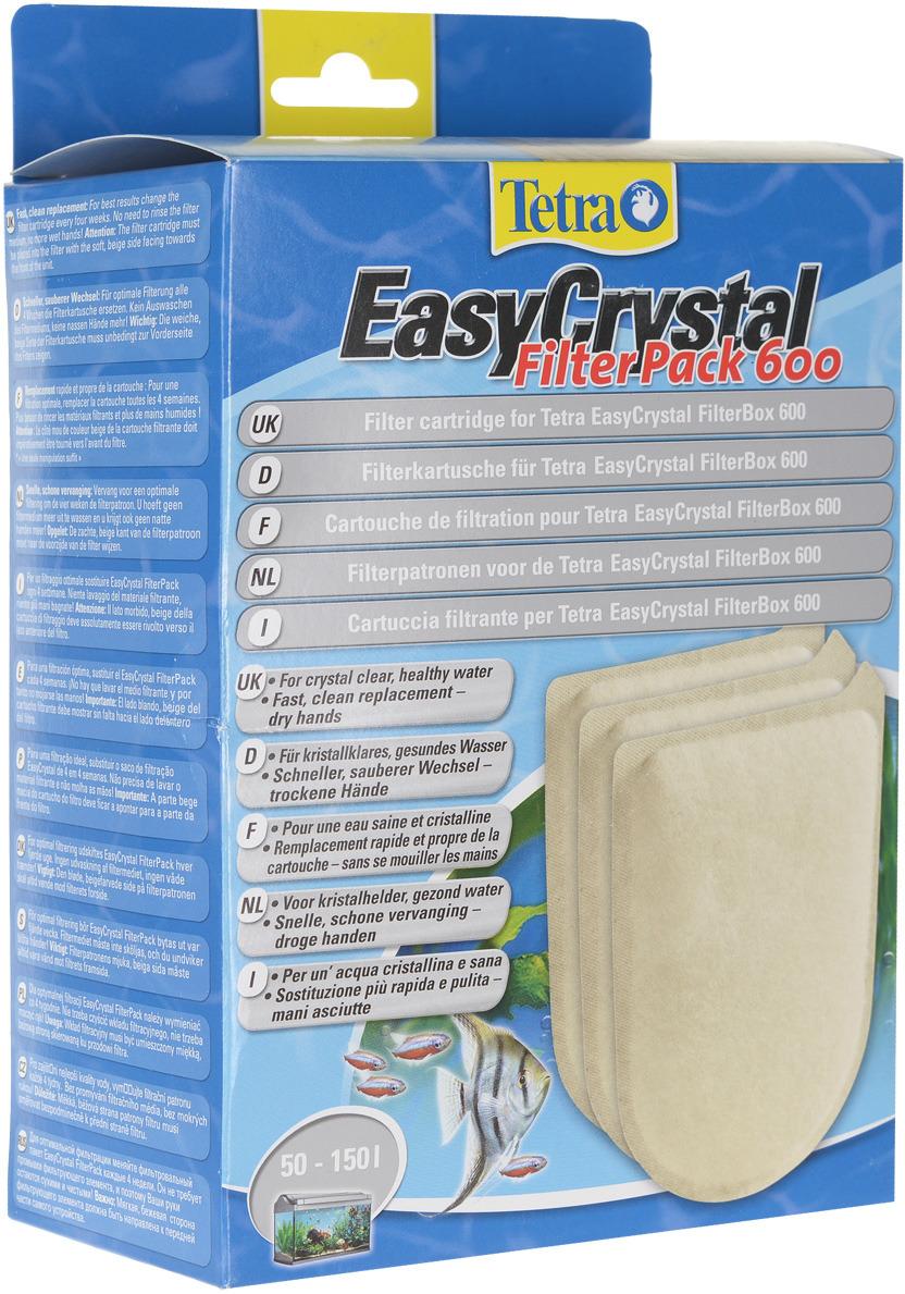 Фильтрующие картриджи Tetra EC 600, для внутреннего фильтра EasyCrystal 600, 3 шт запчасть tetra крепление для внутреннего фильтра easycrystal 250