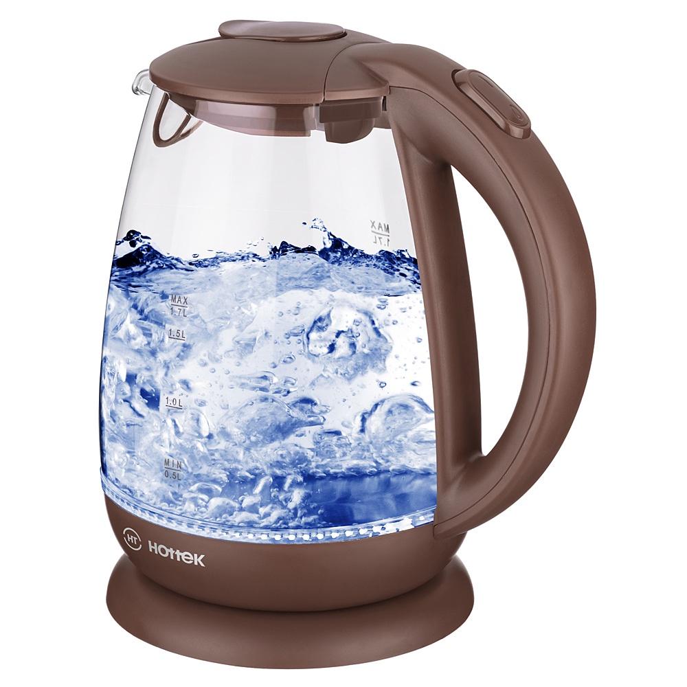Электрический чайник HOTTEK 960-403, коричневый цена и фото