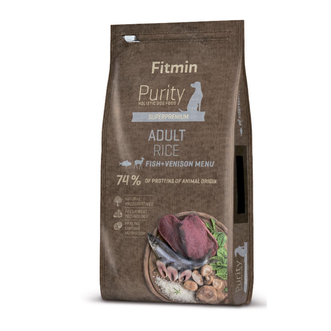 Fitmin Dog Purity 2 кг корм д/с рис, рыба, дичь 2кг