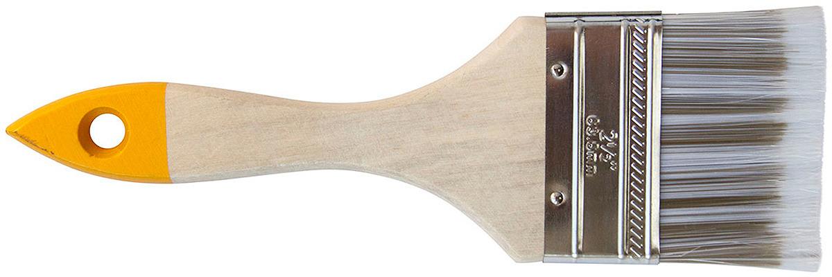 Кисть Korvus Хобби, 4680037330736, плоская, искусственная щетина, ширина 63 мм кисть плоская korvus хобби натур щетина 50мм
