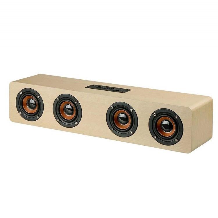 Беспроводная колонка Lumobook Блютуз колонка в деревянном корпусе, аккумулятор 3000 мАч, цвет бежевый, бежевый музыка на телефон