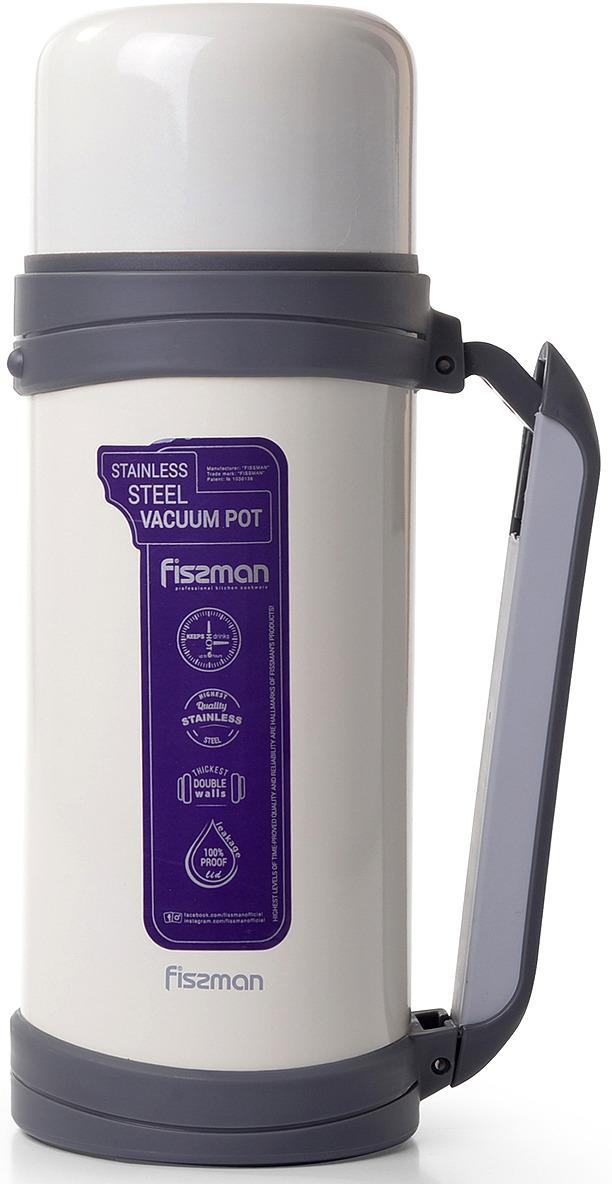 Термос Fissman, 9807, белый, 1,5 л