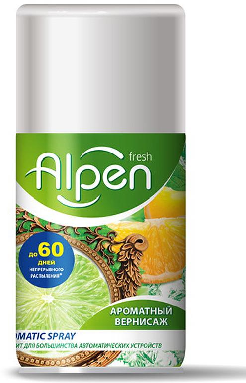 Освежитель воздуха Alpen Fresh Ароматный вернисаж, сменный флакон, 250 мл освежитель воздуха grass silver флакон 250 мл