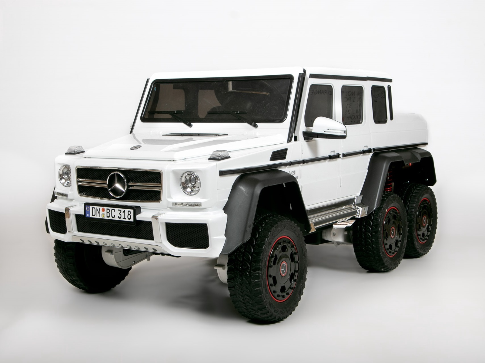 Электромобиль Barty Mercedes-Benz G63 AMG 4WD, белый