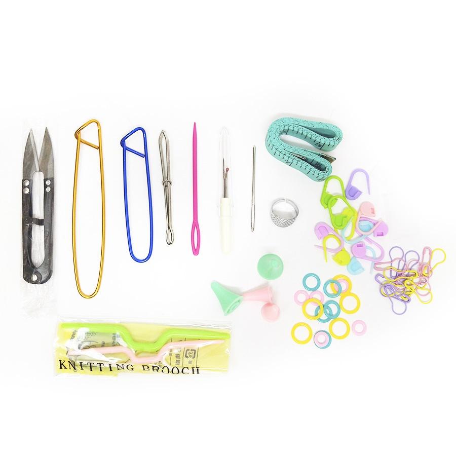 Набор инструментов для вязания Простые решения 57 предметов+кейс для хранения цены