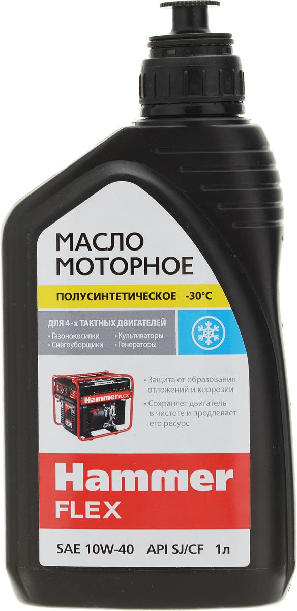 Масло моторное Hammerflex 501-009, полусинтетическое, 4-х тактное, 1 л