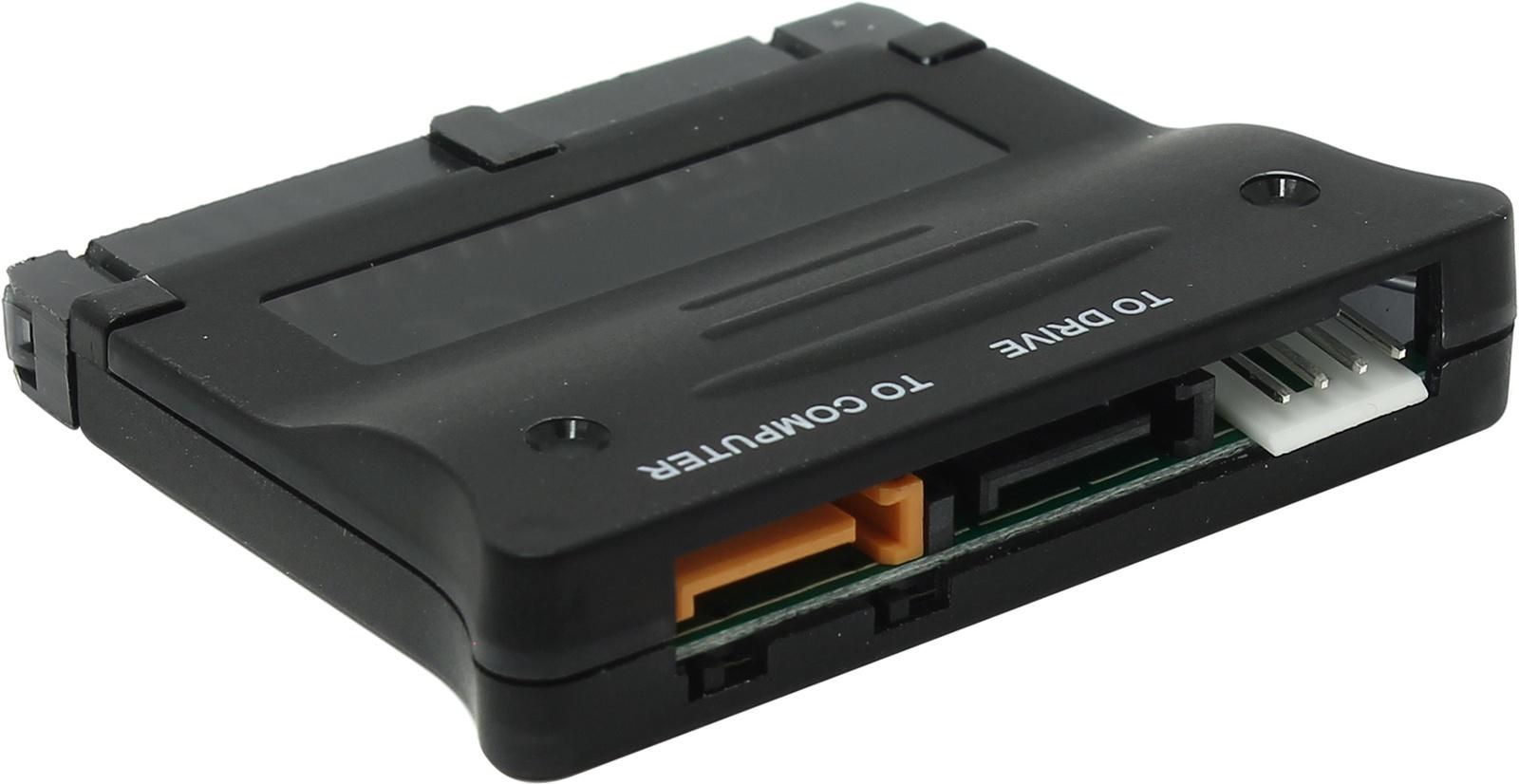 Адаптер-переходник Espada FG-BSA2-S1-1IDE, Конвертер SATA to IDE / IDE to SATA (двунаправленный), черно-серый адаптер c7 sata ide 44p 2 5 sata ide 2 5