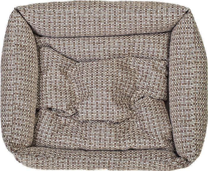 купить Лежак для собак Happy Puppy Йоркшир-2, HP-170047-2, коричневый, 50 х 42 х 15 см по цене 1800 рублей