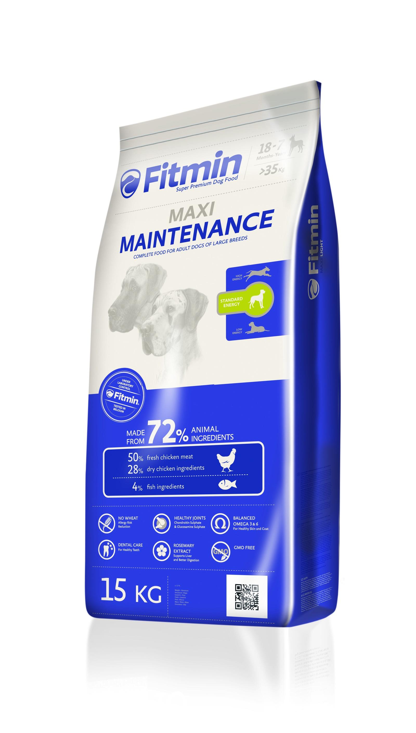 Fitmin dog 15 Maxi Maintenance корм д/с крупных пород 15кг