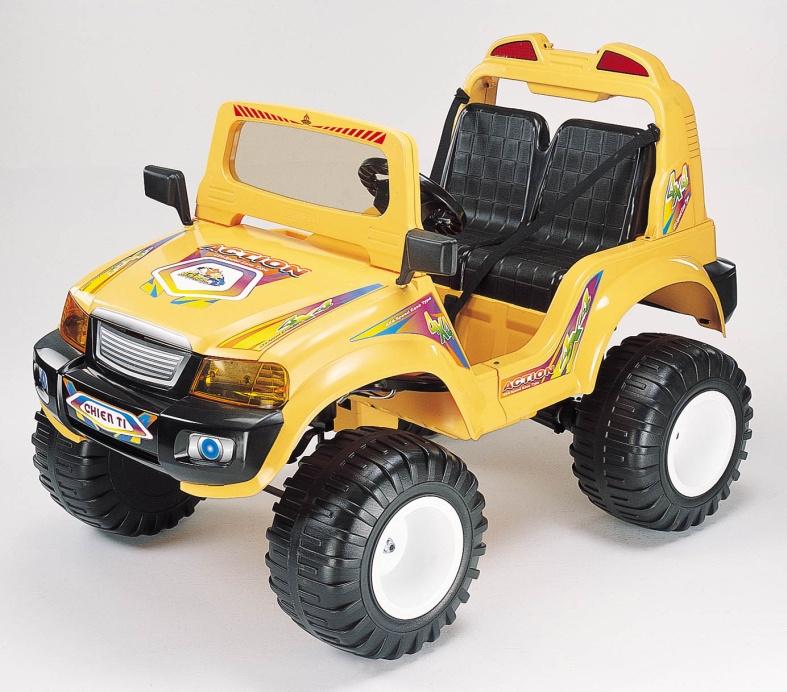Электромобиль CHIEN TI CT-885R, желтый на авто хонда срв при скорости 40 45 км час временами вибрация