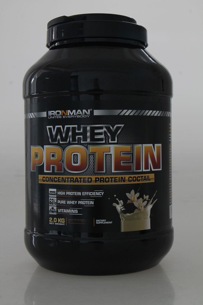 Протеин сывороточный Ironman Ваниль, 2 кг