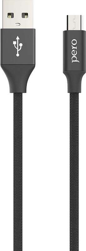 Кабель Pero DC-02 micro-USB, 2 А, 1 м, черный