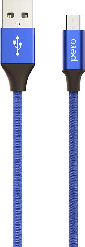 Кабель Pero DC-02 micro-USB, 2 А, 1 м, синий