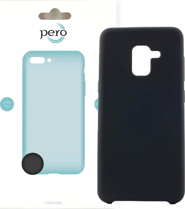 Чехол-накладка Pero для Samsung Galaxy A8, черный
