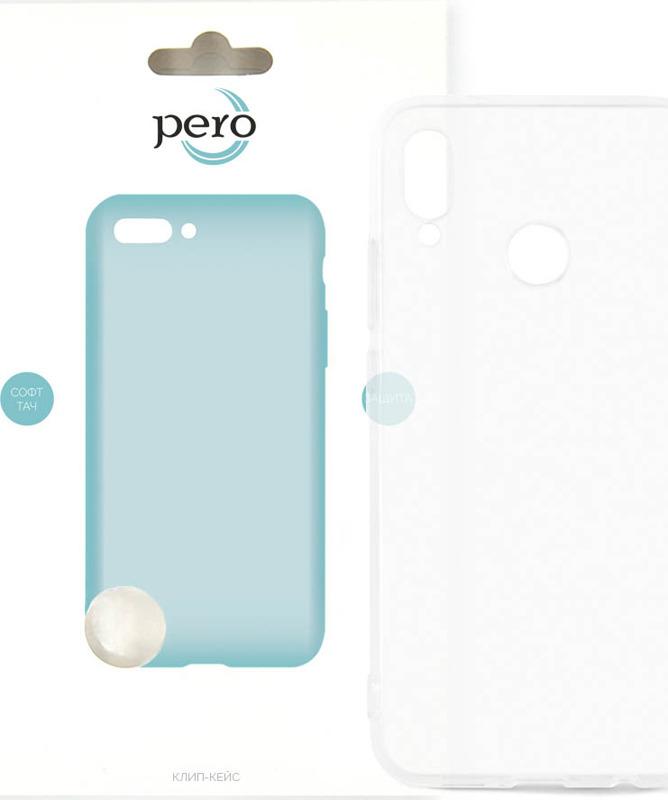 Чехол-накладка Pero для Huawei P20 Lite, прозрачный аксессуар чехол для huawei p20 lite pero soft touch turquoise prstc p20lc