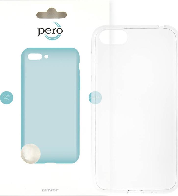 Чехол-накладка Pero для Huawei Y5 2018, прозрачный аксессуар чехол для huawei p20 lite pero soft touch turquoise prstc p20lc