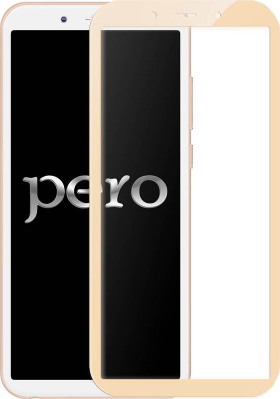 Защитное стекло Pero 2.5D для Huawei Y6 2018, золотой аксессуар защитное стекло для huawei p smart pero 2 5d white prmg hpsw