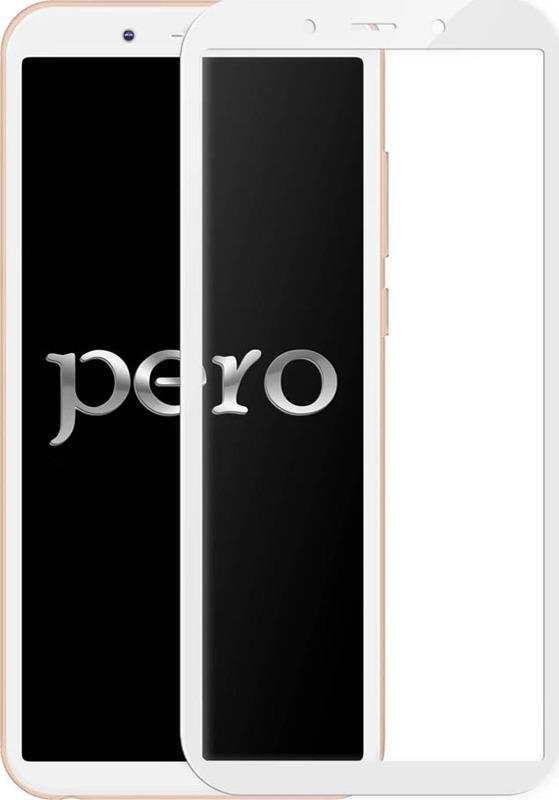 Защитное стекло Pero 2.5D для Huawei Y6 2018, белый