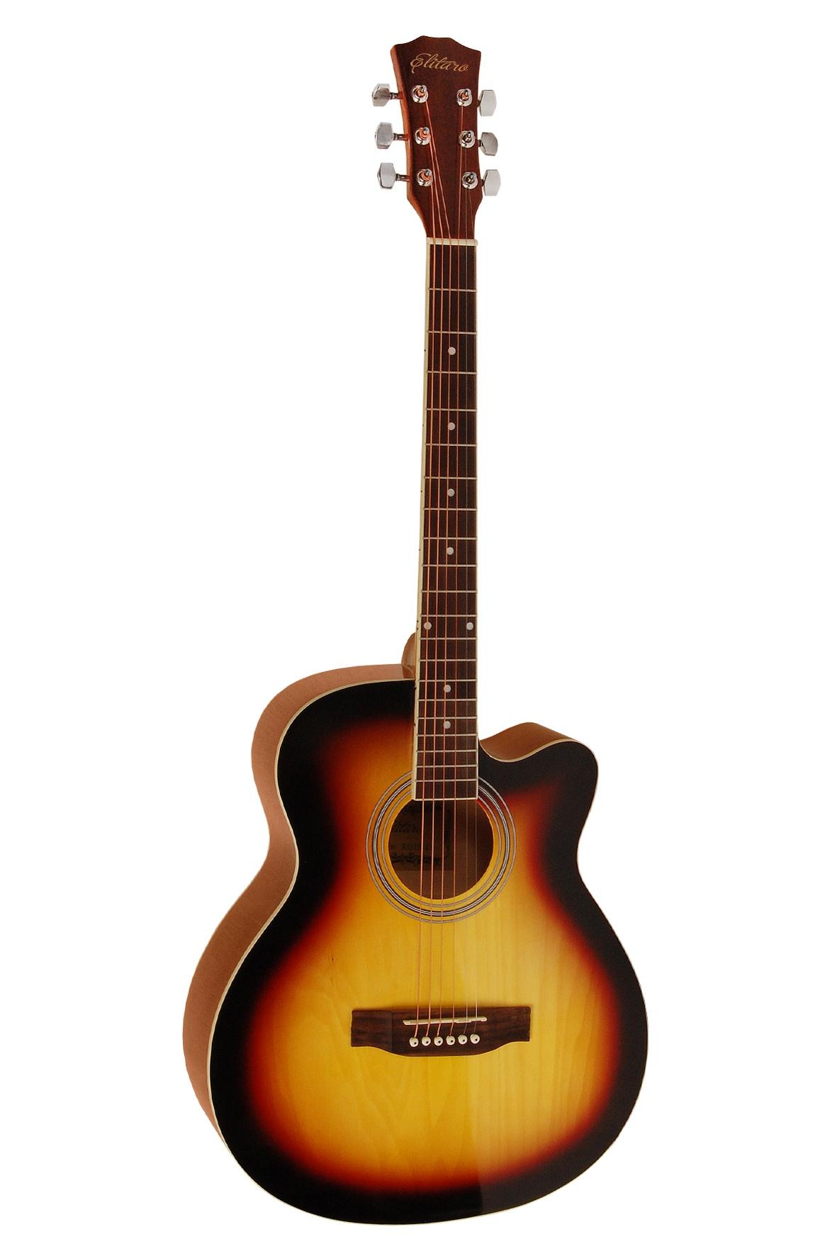 Elitaro E4010C, Yellow акустическая гитара цена
