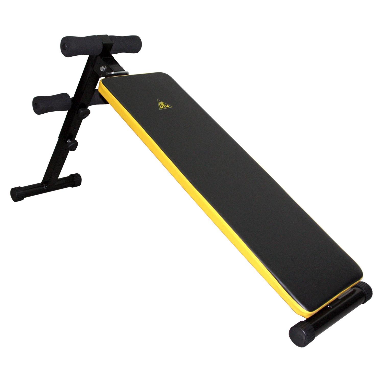 Силовая скамья DFC SJ003-50, черный, желтый цена