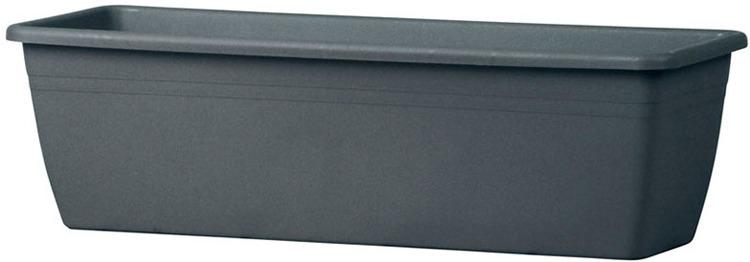 Балконный ящик Teraplast Мирамаре, графитовый, 17 х 50 х 15 см ящик балконный emsa country цвет серый 50 x 17 x 15 см