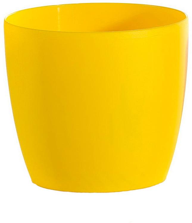Кашпо Teraplast Грасс, желтый, 18 х 18 х 16 см грасс автохимия