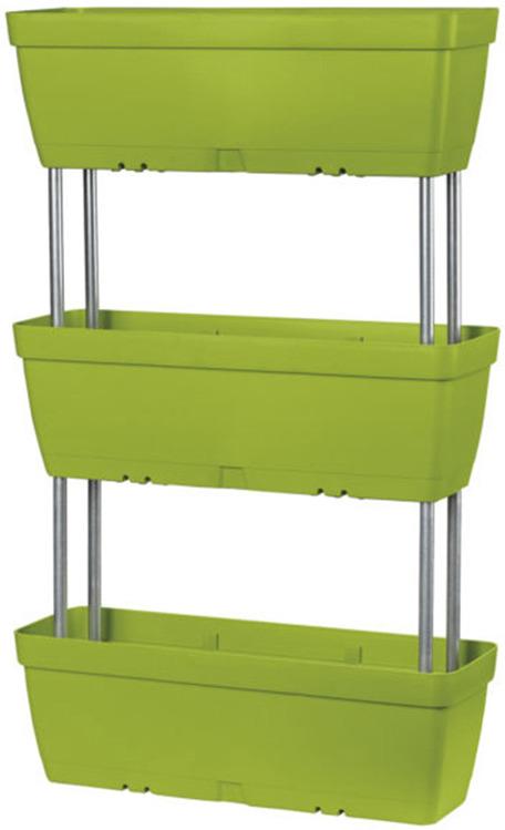 Балконный ящик Deroma Trio Enjoy, зеленый, 16 х 49 х 21 см ящик балконный emsa landhaus цвет темно зеленый 50 х 20 х 16 см