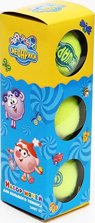 Мяч теннисный MESUCA SMBT101, желтый, синий, 3 цена