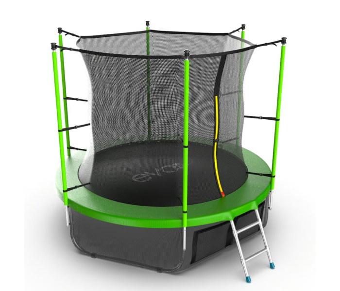 Батут EVO JUMP Internal 8ft (Green) + Lower net. зеленый цена и фото