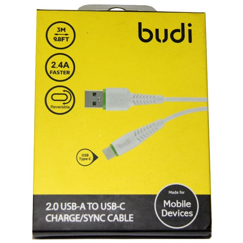 Кабель Budi M8J150T09-BLK, черный запчасти для мобильных телефонов asus zenfone5 usb