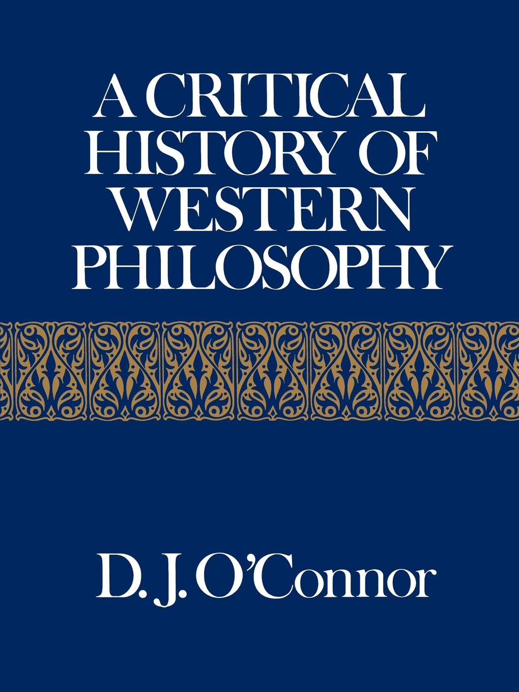 A Critical History of Western Philosophy a history of venice