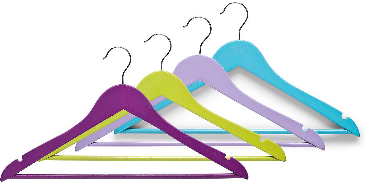 Набор вешалок для одежды Zeller, 17145, разноцветный, 3 шт набор вешалок для одежды attribute hanger bamboo 3 шт